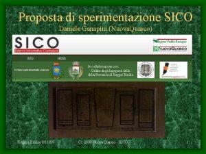 Proposta di sperimentazione SICO Daniele Ganapini Nuova Quasco