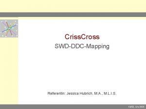 Criss Cross SWDDDCMapping Referentin Jessica Hubrich M A