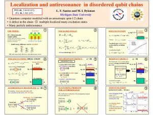 Localization and antiresonance in disordered qubit chains PRB
