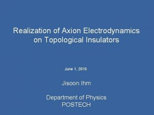Realization of Axion Electrodynamics on Topological Insulators June
