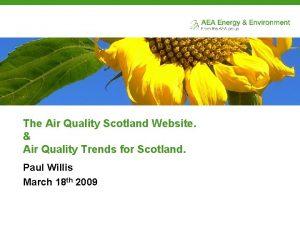 The Air Quality Scotland Website Air Quality Trends