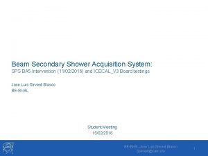 Beam Secondary Shower Acquisition System SPS BA 5