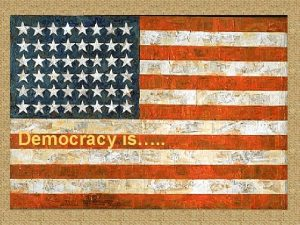 Democracy is Political Cartoon 1 Title democracy Artist