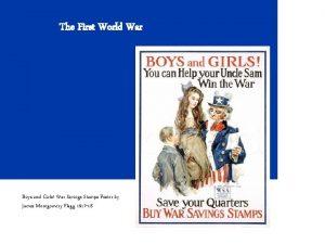 The First World War Boys and Girls War