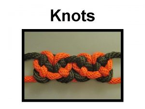 Knots Rope Characteristics Bowline The bowline has been