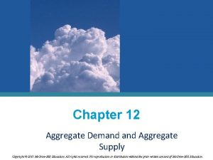 Chapter 12 Aggregate Demand Aggregate Supply Copyright 2015