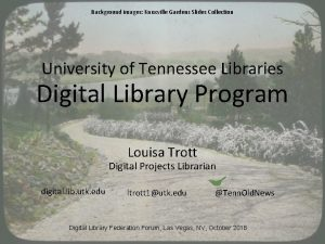 Background images Knoxville Gardens Slides Collection University of