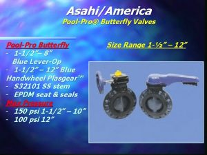AsahiAmerica PoolPro Butterfly Valves PoolPro Butterfly 1 12