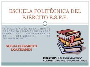 ESCUELA POLITCNICA DEL EJRCITO E S P E