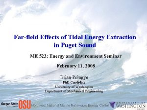 Farfield Effects of Tidal Energy Extraction in Puget