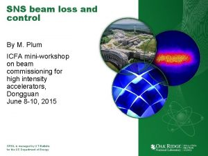 SNS beam loss and control By M Plum