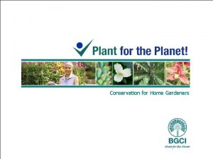 Conservation for Home Gardeners Conservation definitions World Conservation