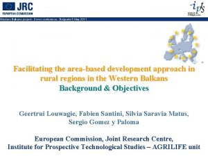 Western Balkans project Donor conference Belgrade 5 May