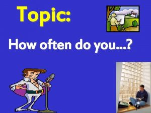 Topic How often do you Reflecting on Language
