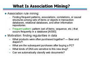 What Is Association Mining l Association rule mining