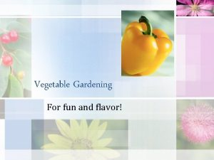 Vegetable Gardening For fun and flavor Site Selection