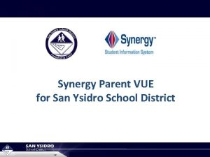 Synergy Parent VUE for San Ysidro School District
