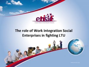 The role of Work Integration Social Enterprises in