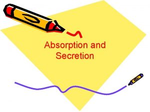 Absorption and Secretion Learning Outcomes Identify the structure