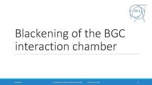 Blackening of the BGC interaction chamber 06102020 BLACKENING