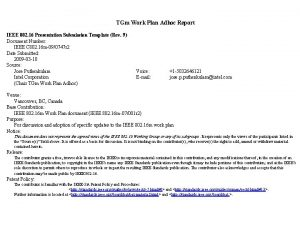 TGm Work Plan Adhoc Report IEEE 802 16