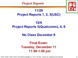 Project Reports 1129 Project Reports 1 2 3USC