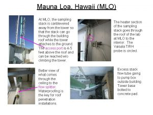 Mauna Loa Hawaii MLO At MLO the sampling