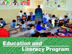 Education Literacy program Education Literacy program 1 Parwarish