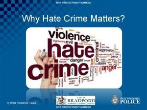 Why Hate Crime Matters Why Hate Crime Matters