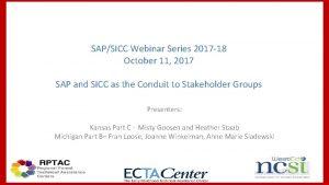 SAPSICC Webinar Series 2017 18 October 11 2017
