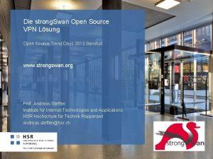 Die strong Swan Open Source VPN Lsung Open