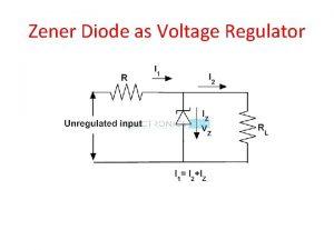 Zener Diode as Voltage Regulator Voltage Current Equations