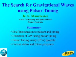 The Search for Gravitational Waves using Pulsar Timing