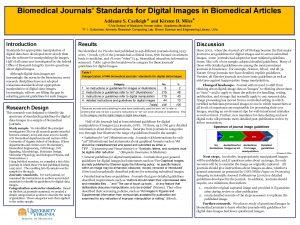 Biomedical Journals Standards for Digital Images in Biomedical