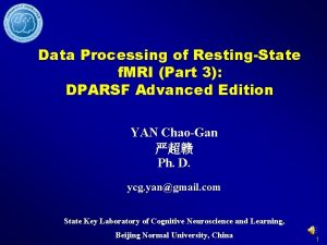 Data Processing of RestingState f MRI Part 3