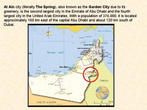 Al Ain city literally The Spring also known