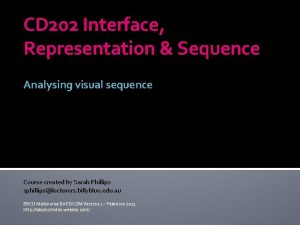 CD 202 Interface Representation Sequence Analysing visual sequence