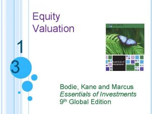 Equity Valuation 1 3 Bodie Kane and Marcus