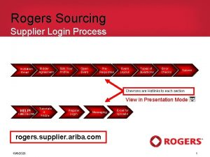 Rogers Sourcing Supplier Login Process Invitation Email Bidder