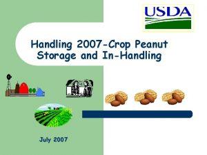 Handling 2007 Crop Peanut Storage and InHandling July