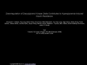 Downregulation of Diacylglycerol Kinase Delta Contributes to HyperglycemiaInduced