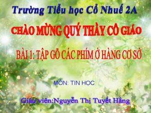 MN TIN HC KHI NG KIM TRA BI