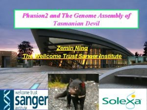 Phusion 2 and The Genome Assembly of Tasmanian