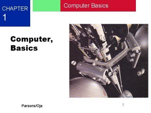 CHAPTER Computer Basics 1 Computer Basics ParsonsOja 1
