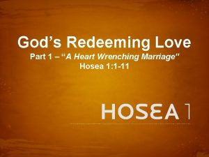 Gods Redeeming Love Part 1 A Heart Wrenching
