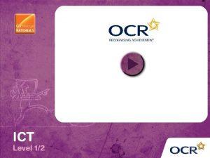 OCR Cambridge National in ICT Level 12 R