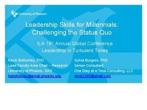 Leadership Skills for Millennials Challenging the Status Quo