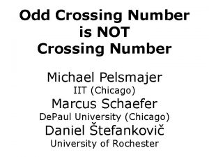 Odd Crossing Number is NOT Crossing Number Michael