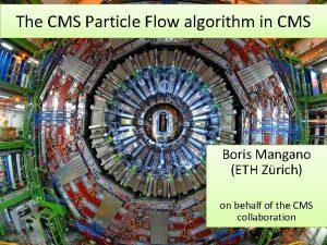 The CMS Particle Flow algorithm in CMS Boris