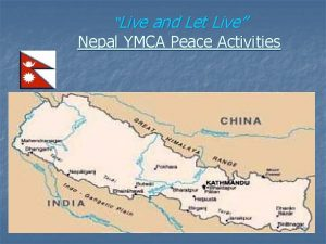 Live and Let Live Nepal YMCA Peace Activities